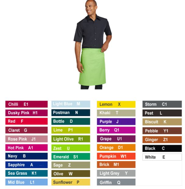 Dennys DP100 Multicoloured Waist Apron