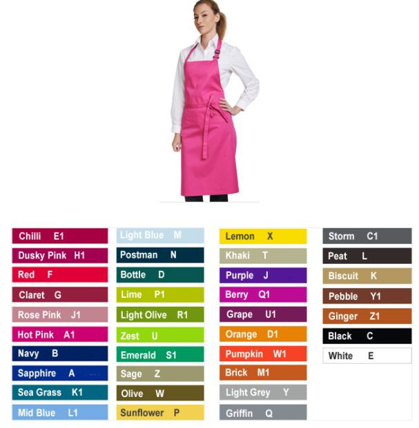 Dennys DP200 Multi Coloured Bib Apron