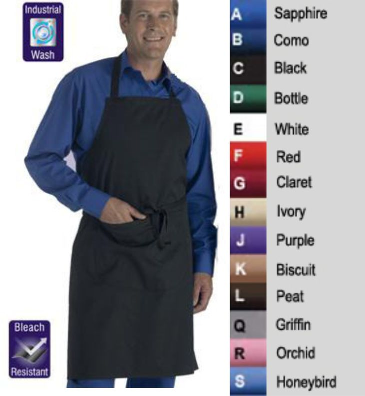 DP55 Bib Apron With Pocket