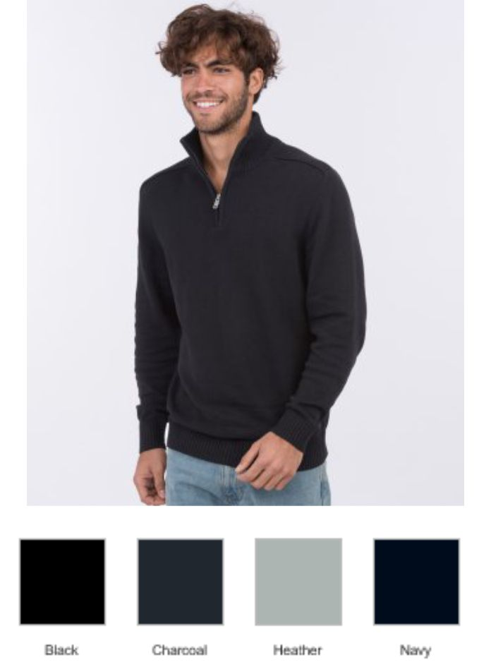 EA061 Ecologie Wakham Zip Neck Sweater