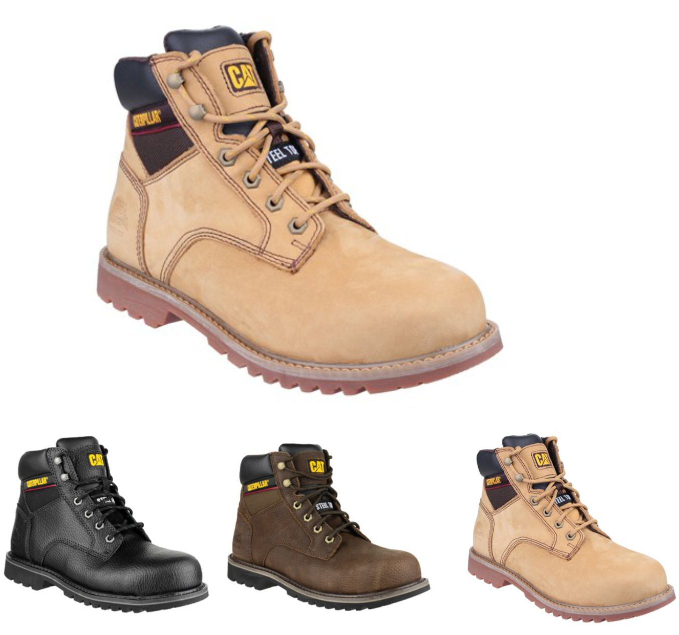 CAT Electric Hi Welted Leather Safety Boot 6""