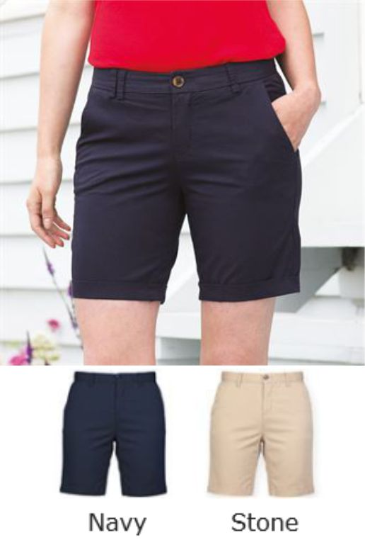 Front Row FR606 Ladies Stretch Chino Shorts