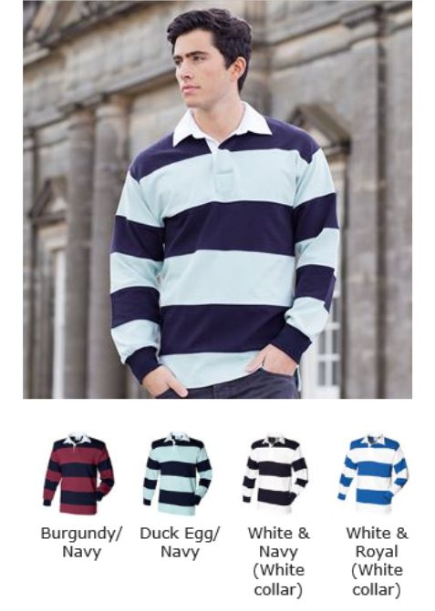 Front Row FR8 striped rugby shirt