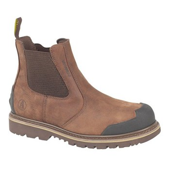 FS225 Brown Nubuck Welted Dealer Boot with Bump Cap Toe