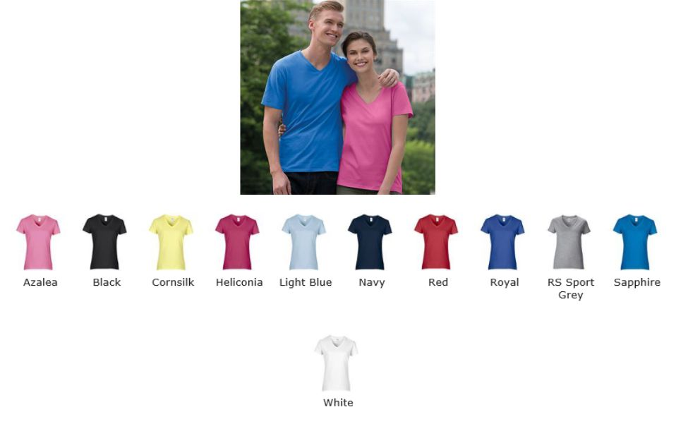 Gildan GD15 Premium Cotton V-Neck T-Shirt