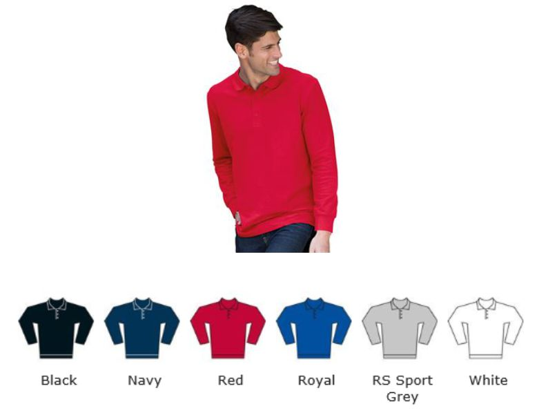 Gildan GD48 Premium Cotton L/Sleeve Double Pique Polo