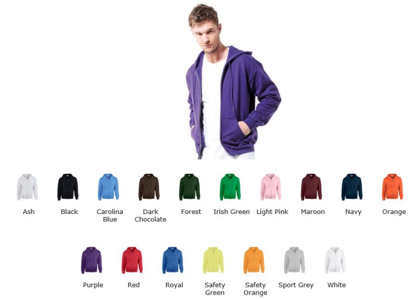 Gildan GD58 Full Zip hood top