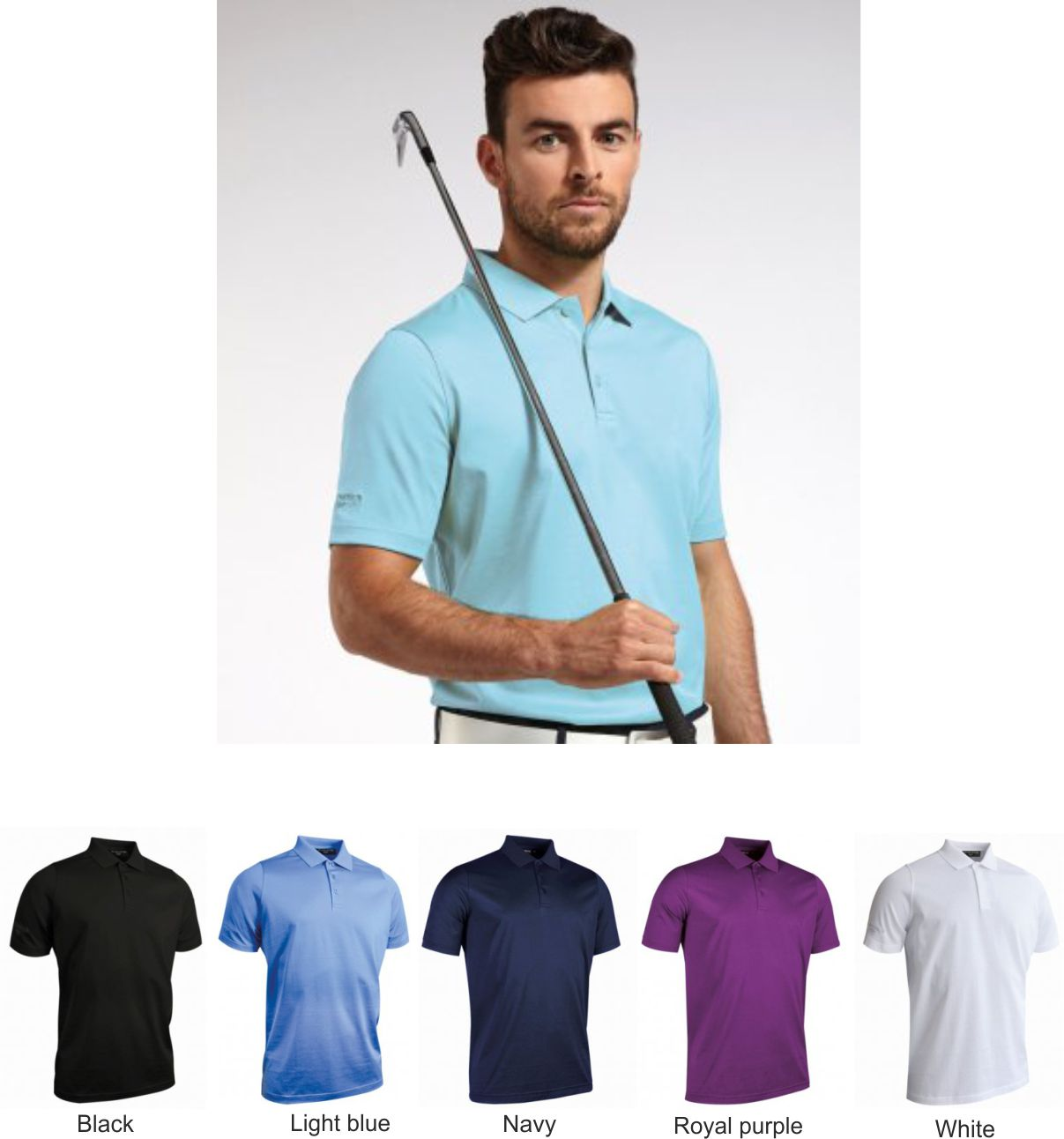 Glenmuir GM42 Plain Mercerised Polo Shirt