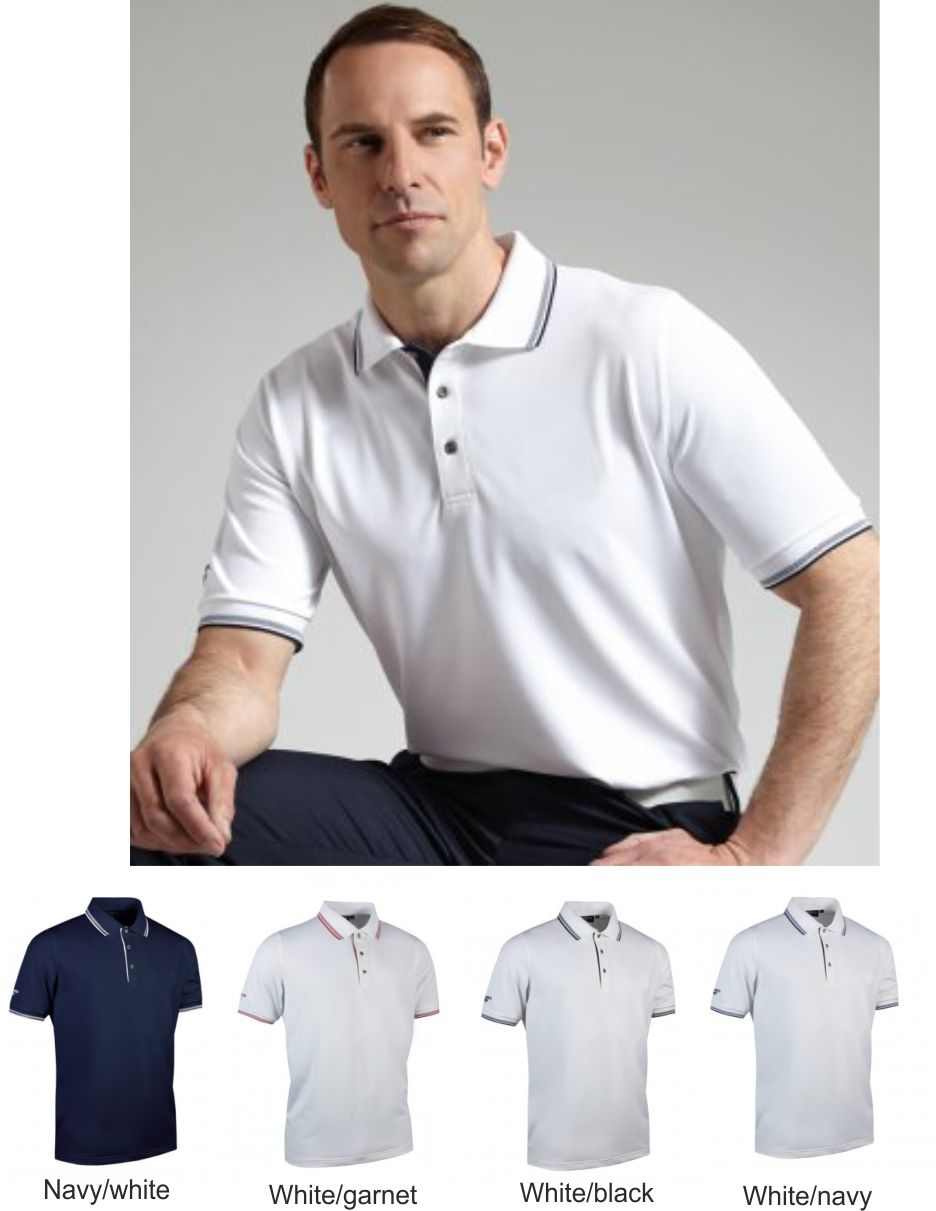 Glenmuir GM85 Tipped Pique Polo