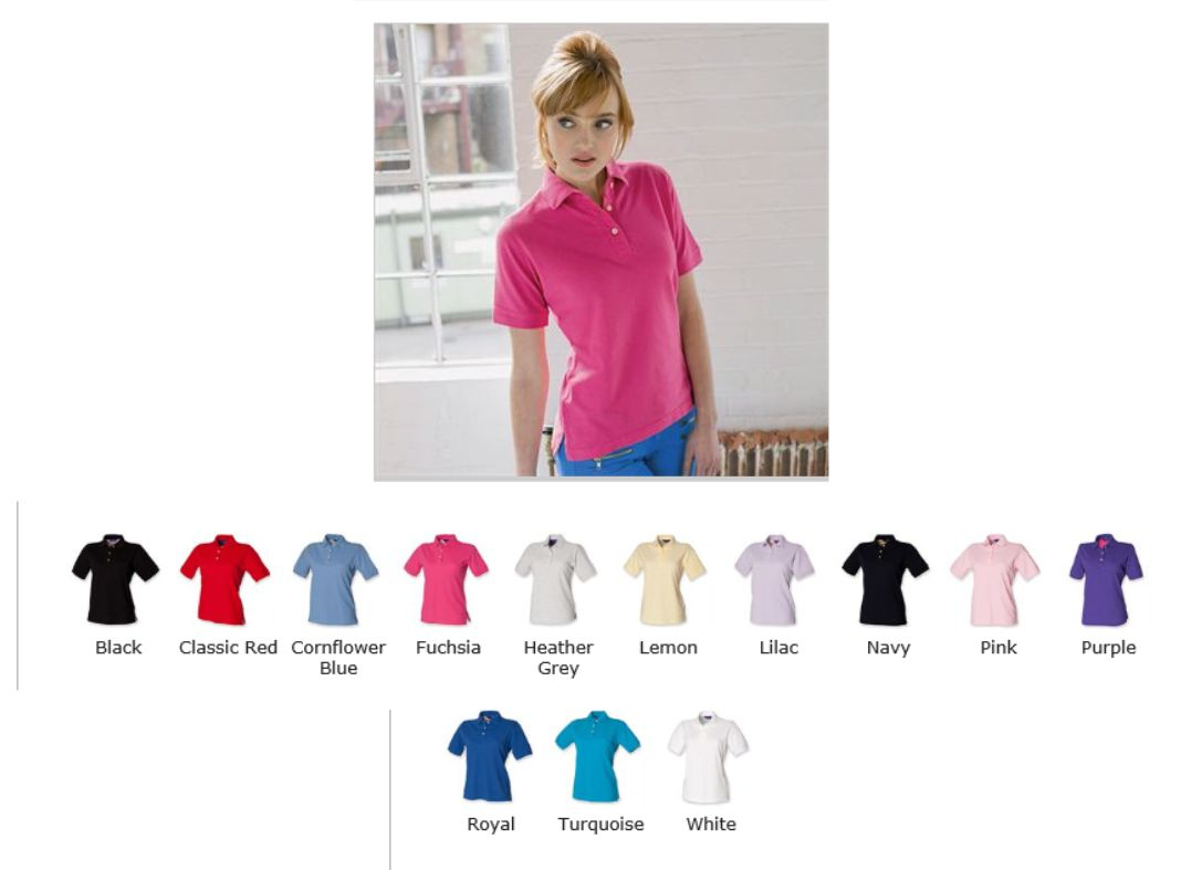 H121 Henbury Ladies Classic Cotton Polo Shirt