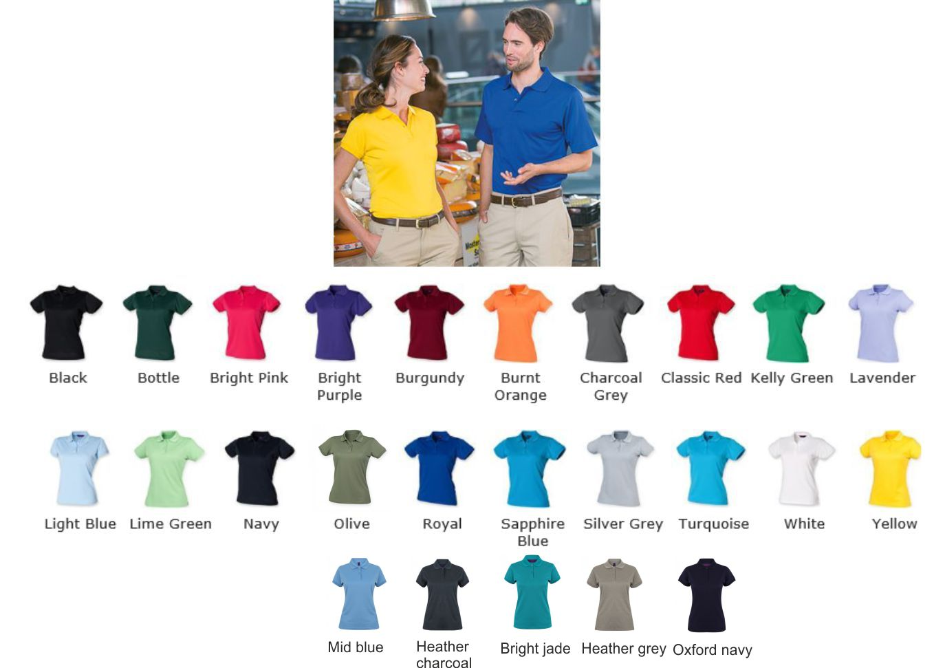 Henbury H476 Womens Coolplus polo shirt