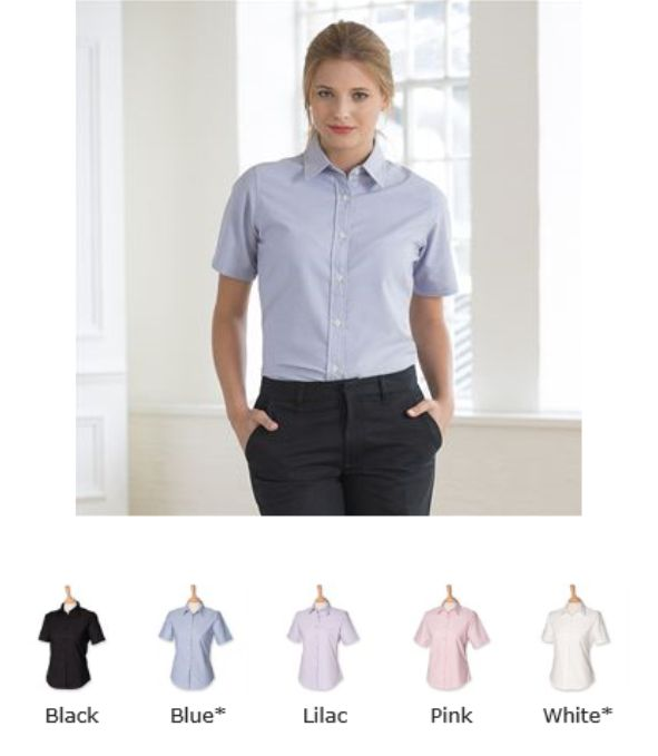 Henbury H516 Ladies Wrinkle Free Short Sleeve Shirt