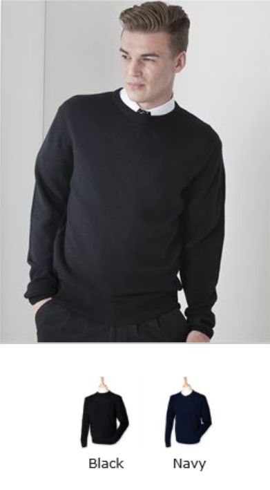 Henbury H735 Crew Neck Lambswool Jumper
