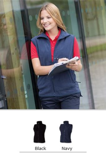 H856 Henbury Ladies Sleeveless Micro Fleece Jacket