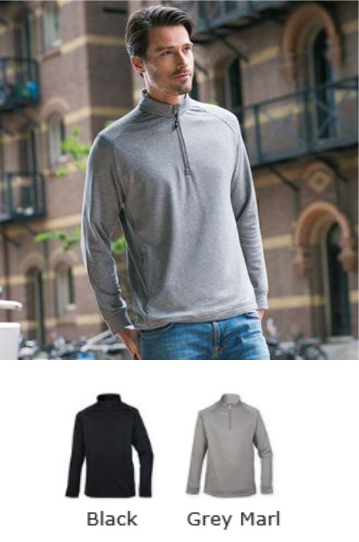 Henbury H862 quarter Zip Top With Wicking Finish