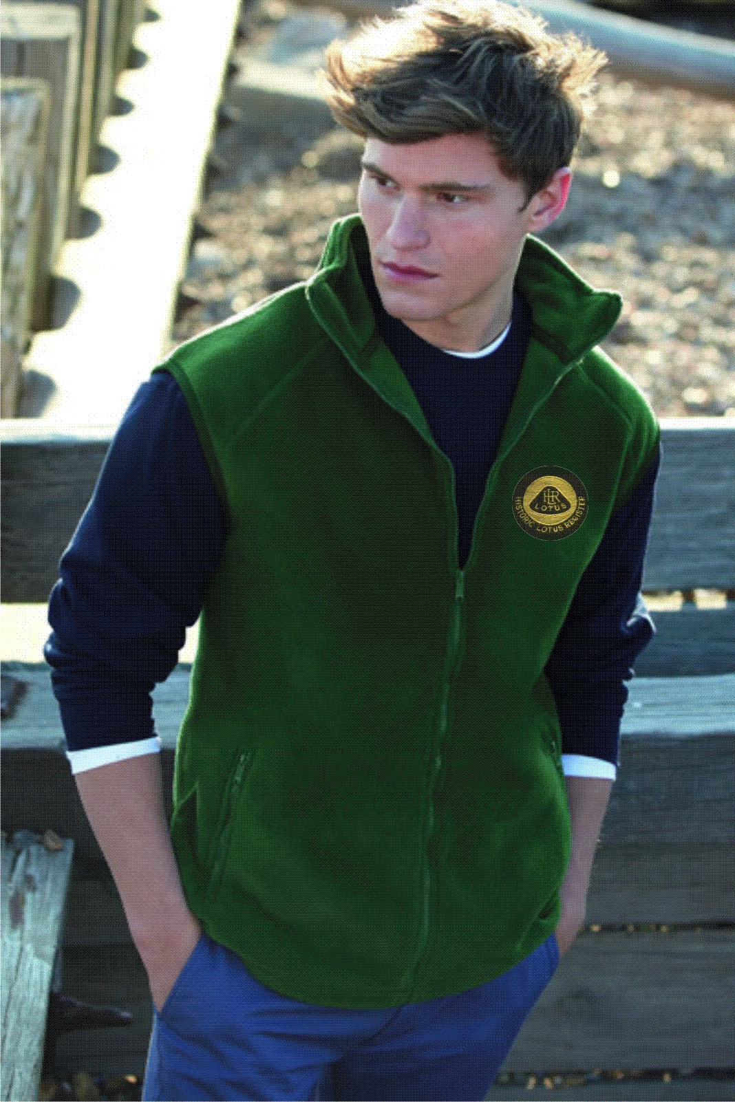 Historic Lotus Register Fleece Gilet