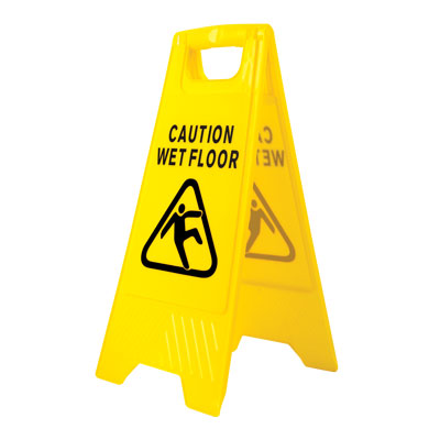 HV20 Wet Floor Warning Sign