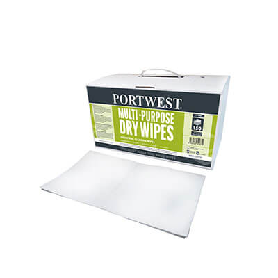 IW90 Portwest Multi Purpose Dry Wipes (150 Pieces)