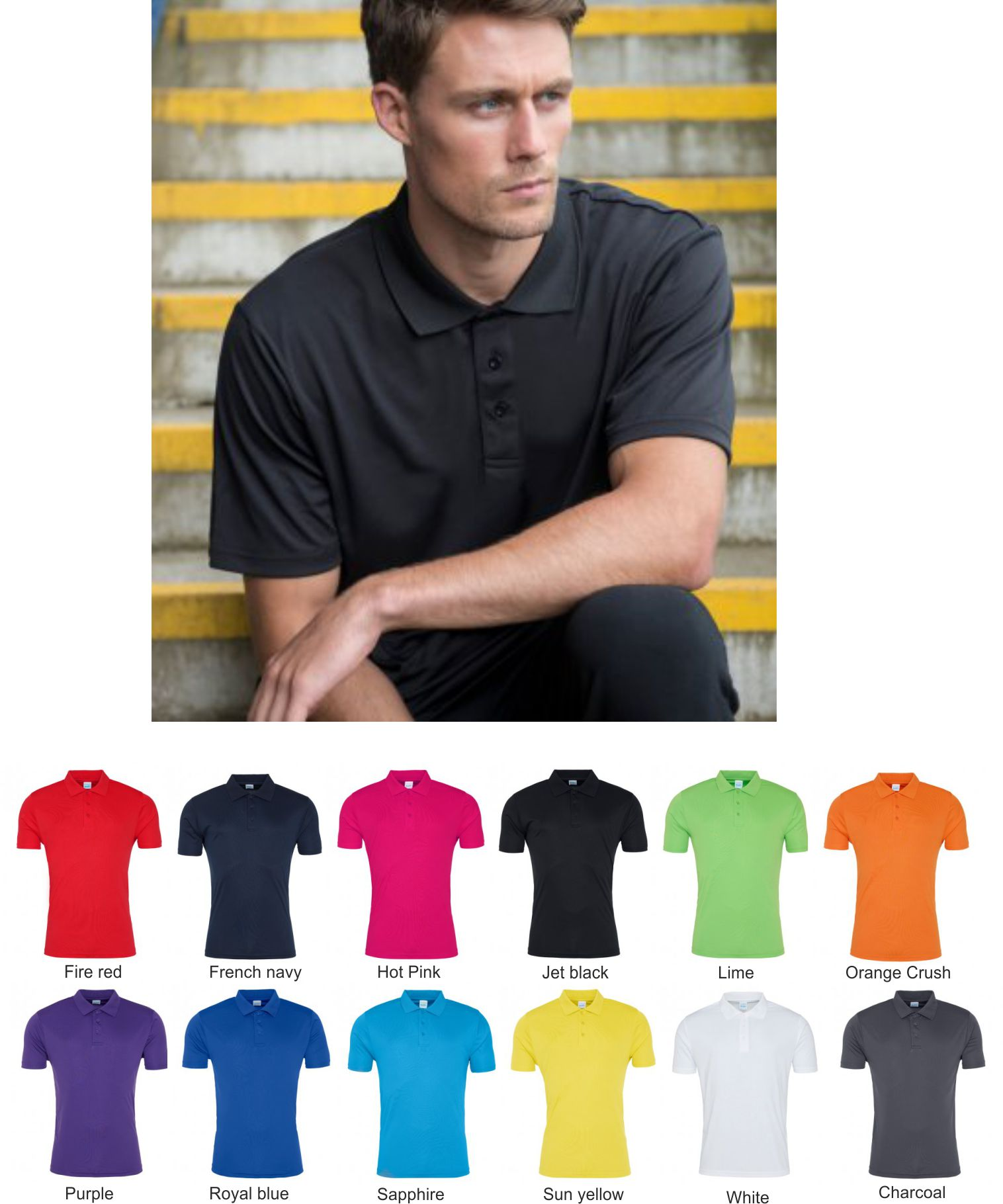 AWD JC021 Just Cool Smooth Polo Shirt