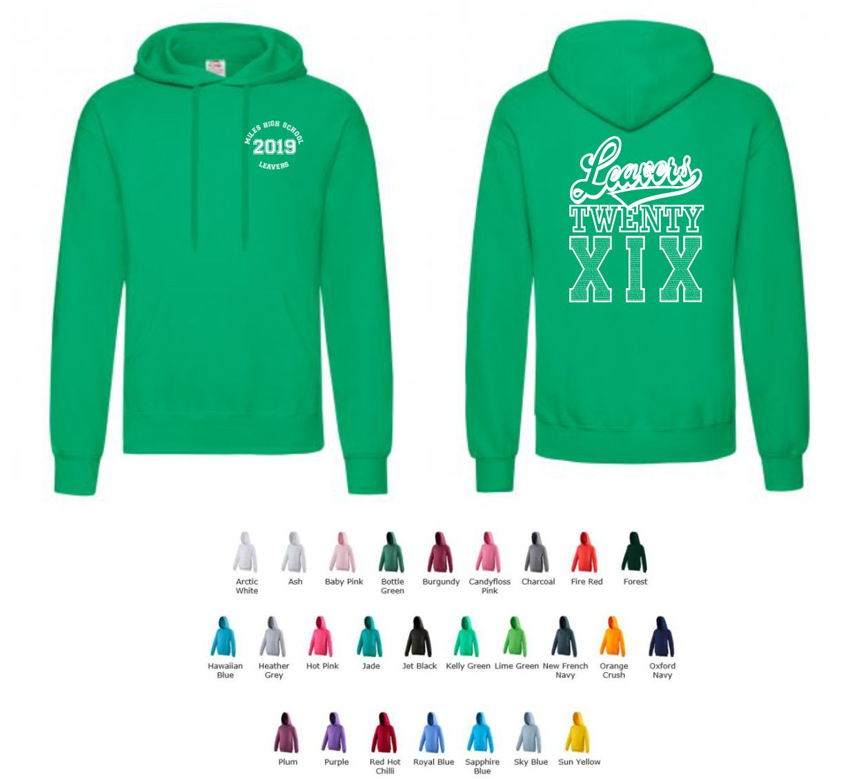 School Leavers JH001 Senior slipover Hoody Style 4