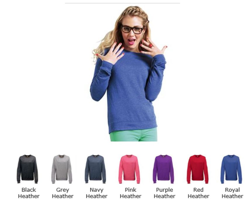 AWD JH045 Girlie Heather Sweat
