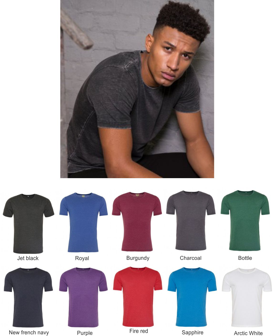 AWD JH099 Washed Tee Shirt