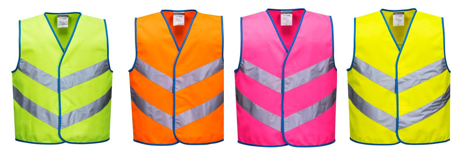 JN15 Portwest Junior Bright Colour Hi Vis Vest