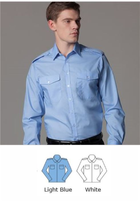 Kustom Kit KK134 Mens l/sleeve Pilot Shirt
