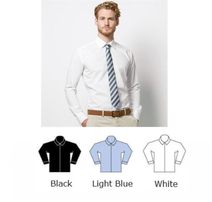 Kustom Kit KK192 Long Sleeve Slim Fit Business Shirt