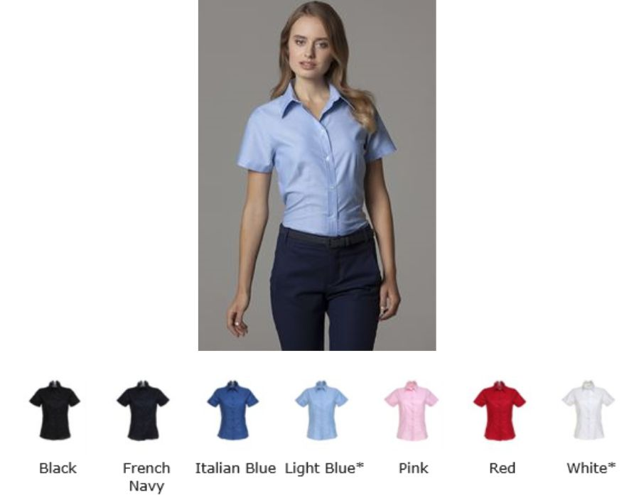 Kustom Kit KK360 Ladies Workwear S/sleeve Oxford Shirt