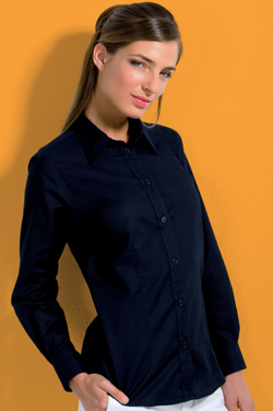 Kustom Kit KK361 l/s Oxford Blouse