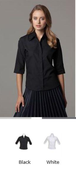 KK715 Kustom Kit Womens Work Business Office Continental Blouse 3//4 Sleeve Shirt