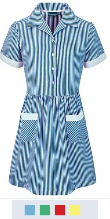 Banner Kinsale Button Front Corded Stripe Dress