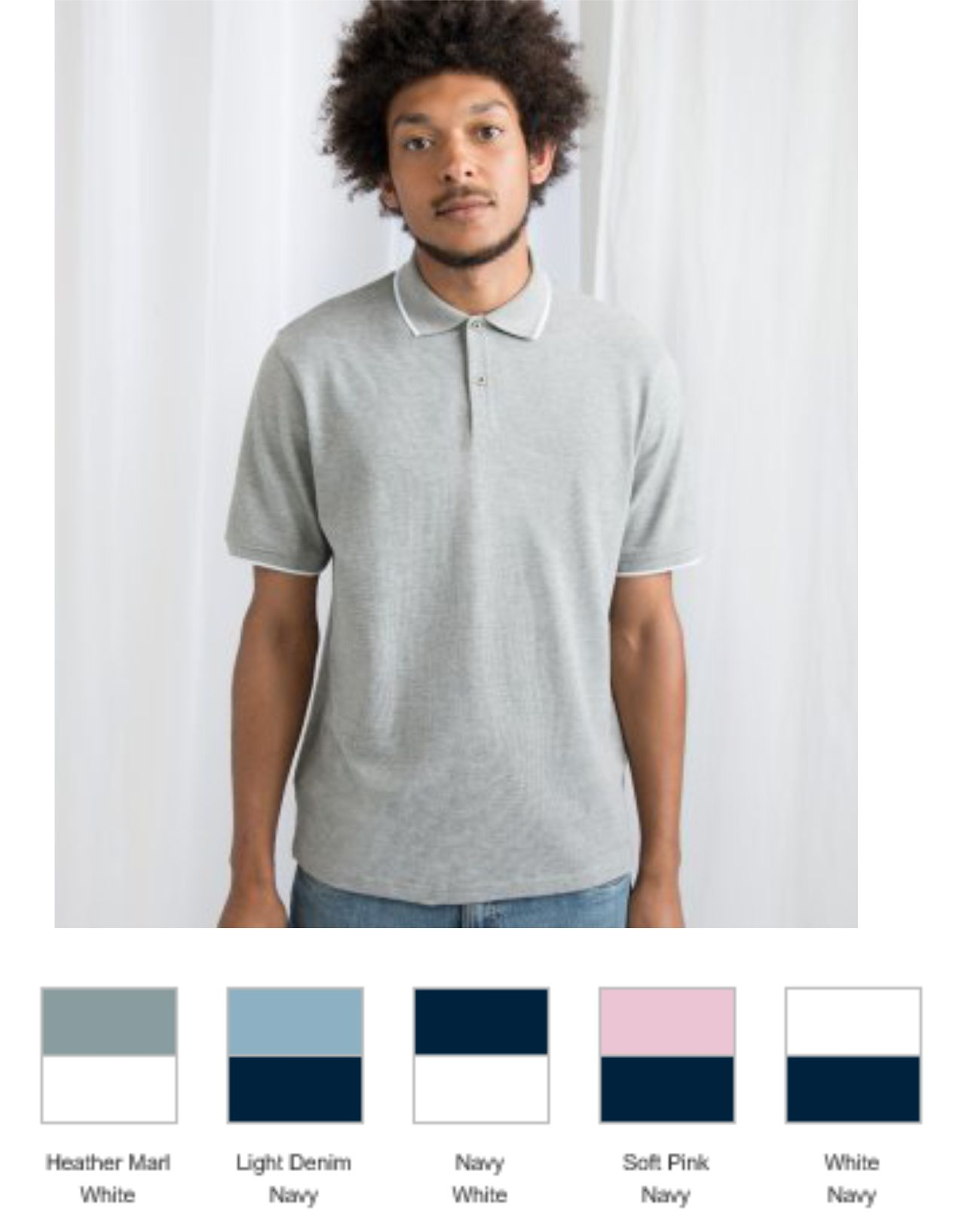 Mantis M191 The Tipped Polo Shirt