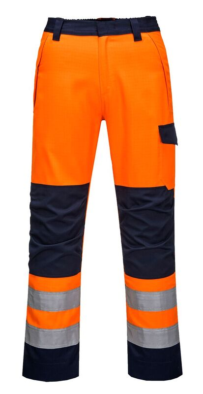 MV36 Portwest Moda flame RIS Orange/navy Trousers