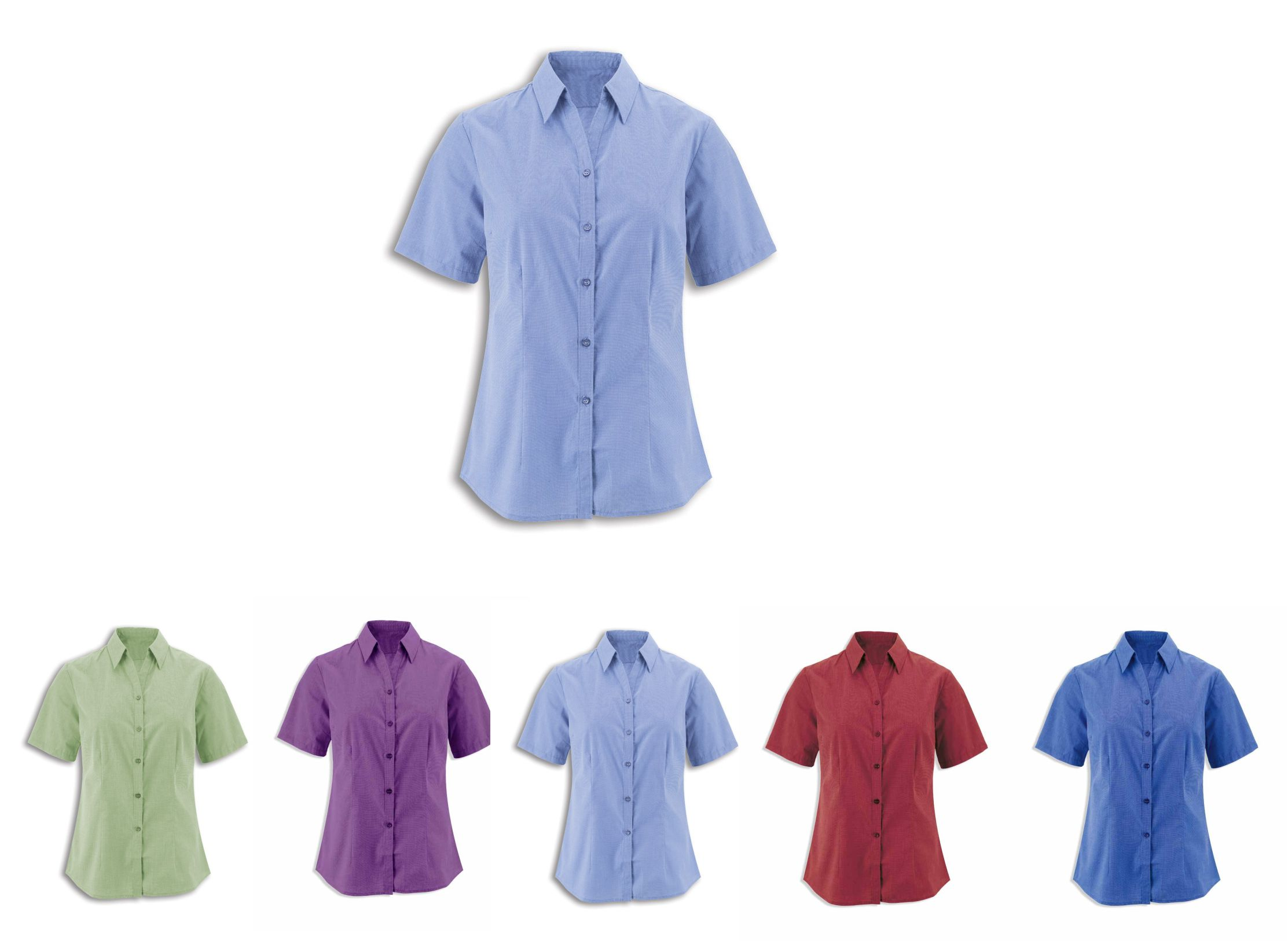 NF160 Women's Woven Coloured Short Sleeve Shirt