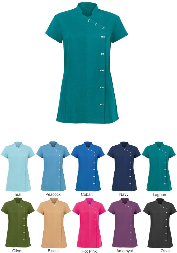 NF990 Women's Easycare Wrap Button Beauty Tunic