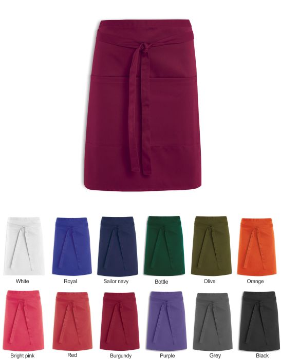 NG30 Short Length Waist Apron With Pocket