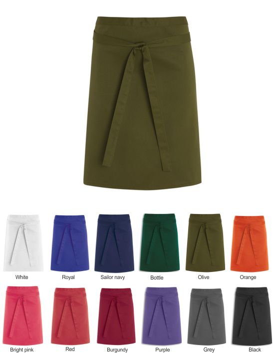 NU70 Short Length Waist Apron Without Pocket