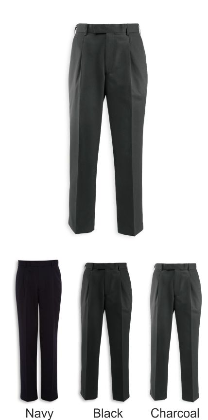 NM508 Assured Men's Single Pleat Poly/Viscose Trousers