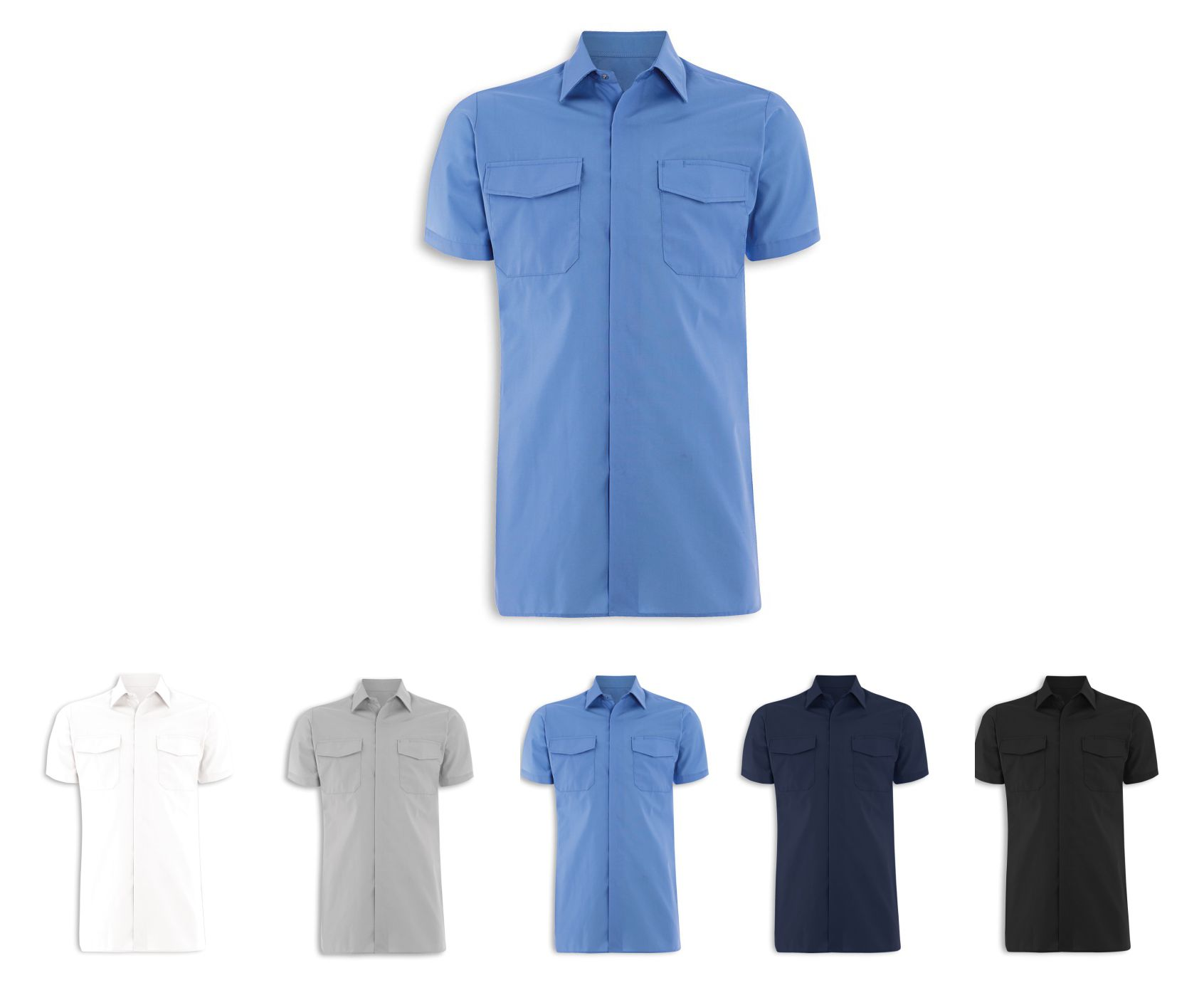 NM519 Men's Short Sleeve Work Shirt