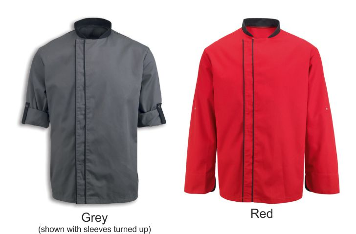 NU572 Chef's Coloured Contrast Jacket