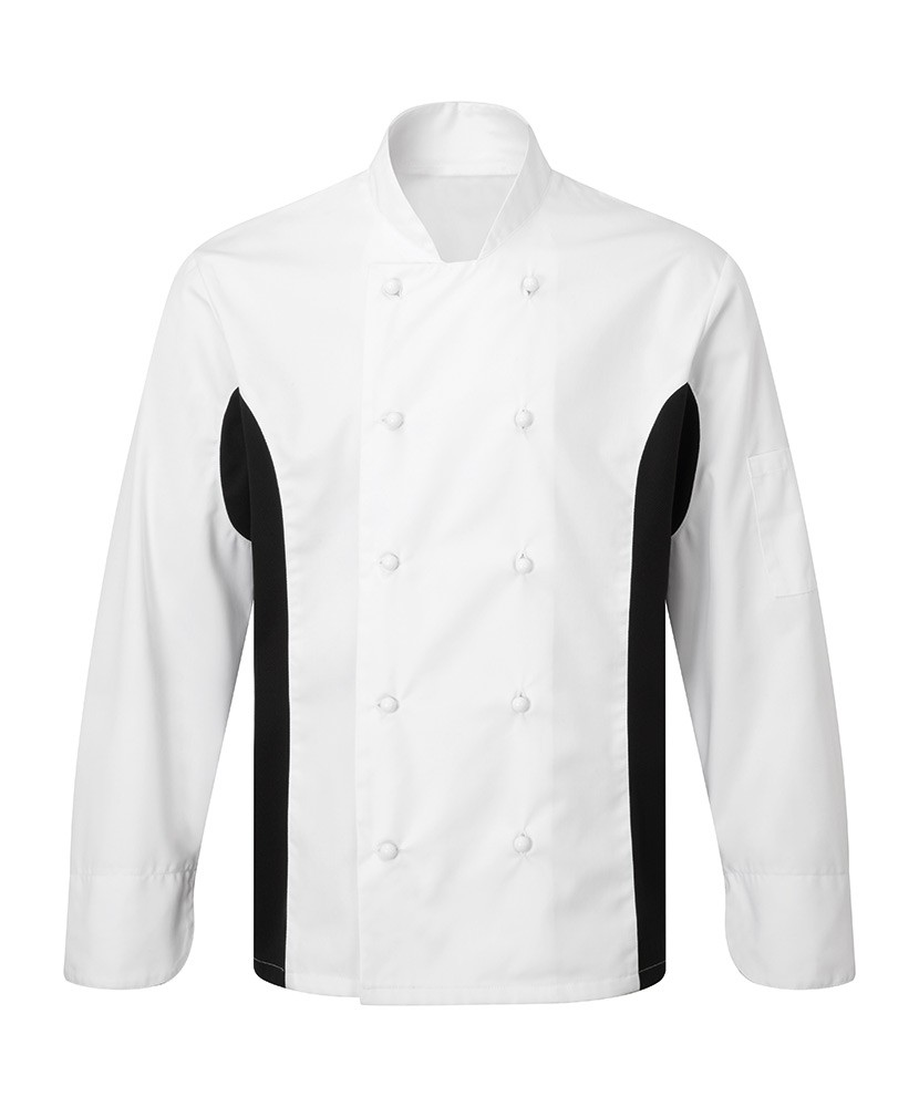 NU573 Wicking Contrast Panel Chef's Jacket