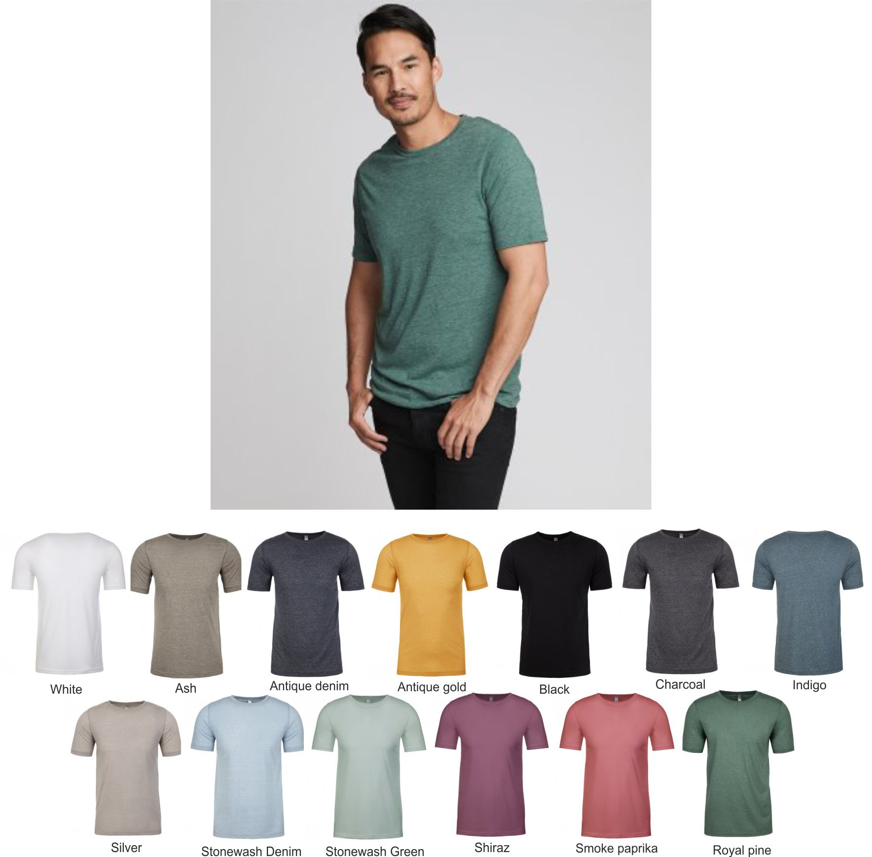 NX6200 Next Level Poly/cotton Crew Neck T-Shirt