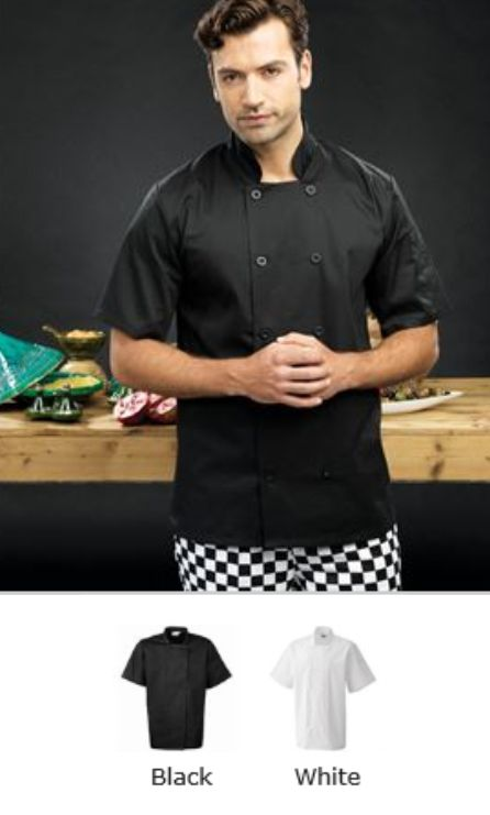 Premier PR656 Short Sleeve Chef's Jacket