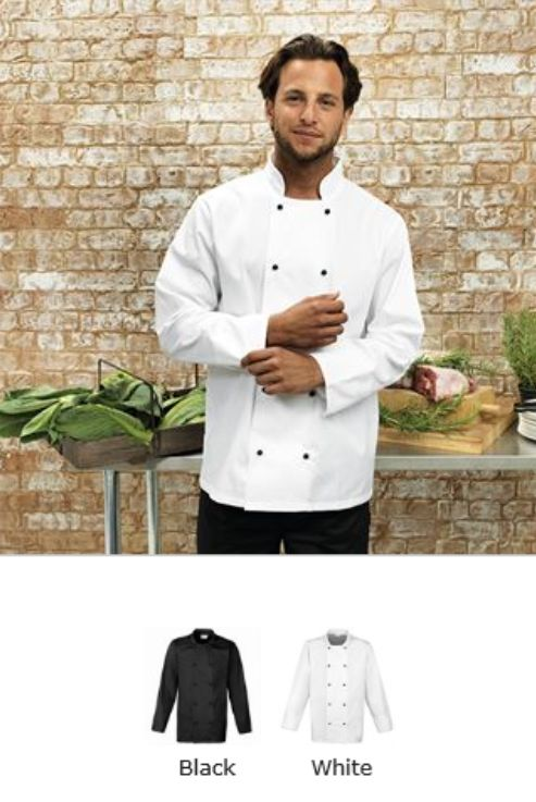 Premier PR661 Cuisine Long Sleeve Chef's Jacket