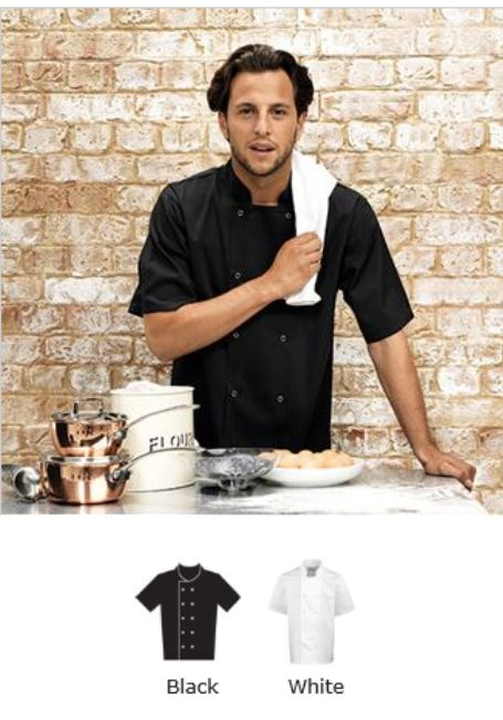 Premier PR664 Cuisine Short Sleeve Chef's Jacket