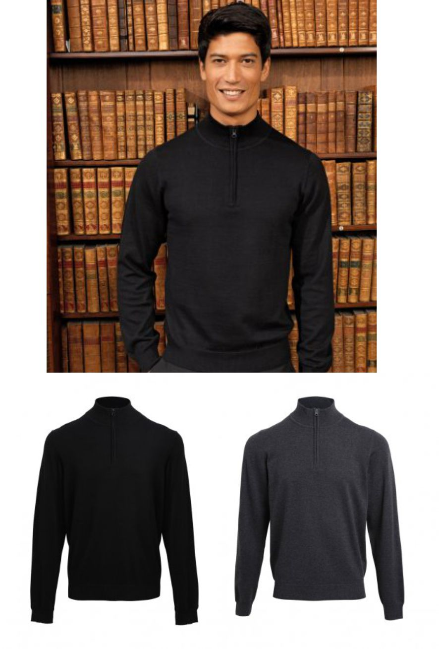 Premier PR695 Zip Neck Sweater