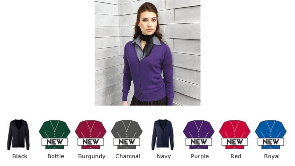 Premier PR697 Ladies Button Through Knitted Cardigan