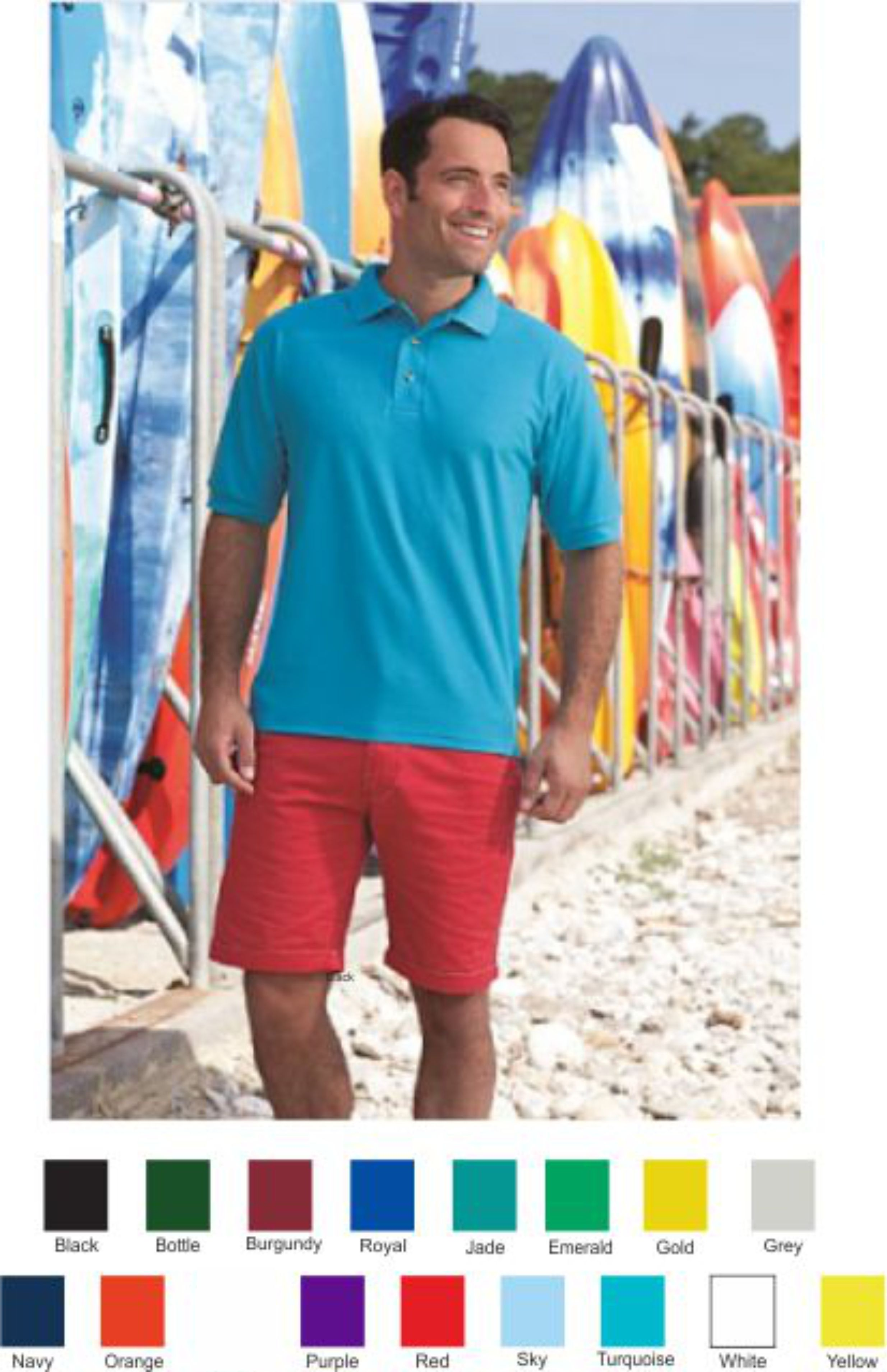 Blue Max Poly/cotton Penthouse Polo